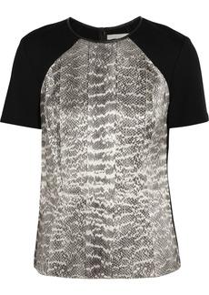 Jason Wu Snake-print stretch-jersey top