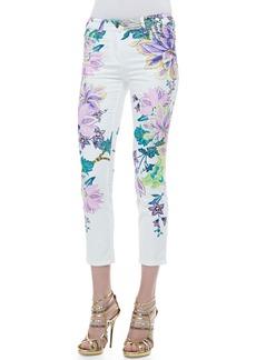 Roberto Cavalli Printed Five-Pocket Skinny Jeans
