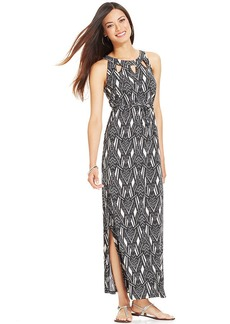 Style&co. Petite Printed Cutout Maxi Dress