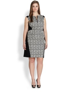 Lafayette 148 New York, Sizes 14-24 Zelina Printed Sheath Dress