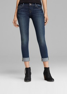 True Religion Jeans - Leona Rolled Cuff Capri in Evening Shadow
