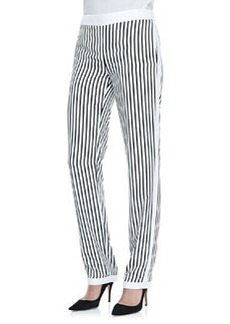 J Brand Ready to Wear Delia Striped Straight-Leg Trousers