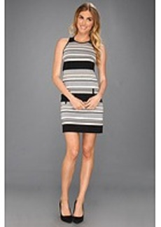 Laundry by Shelli Segal Racer Back Striped Ponte Dress