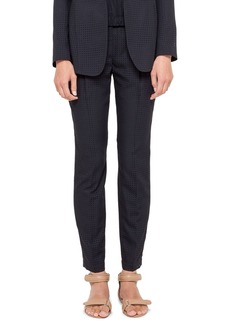 Akris punto Perforated Ankle Pants, Navy