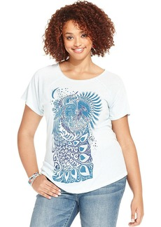 Lucky Brand Plus Size Printed Tee