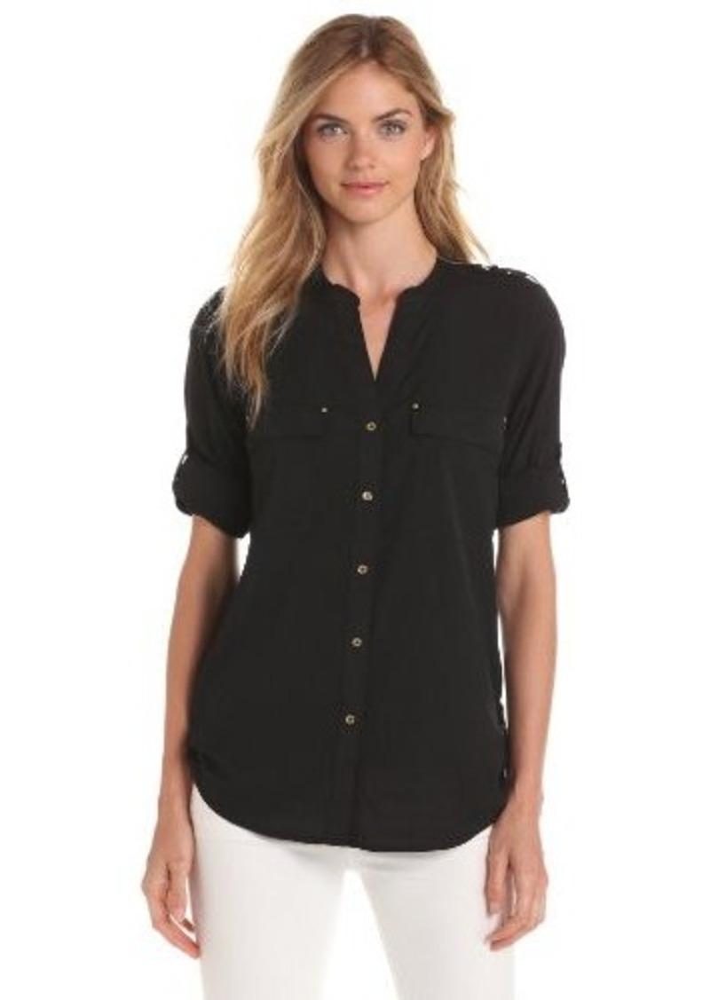 Calvin Klein Calvin Klein Women 39 S Crew Roll Sleeve Shirt
