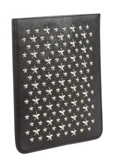 Jimmy Choo black leather studded iPad Mini sleeve