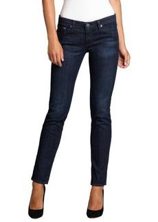 AG Adriano Goldschmied blue stretch denim 'The Stilt' slim leg jeans