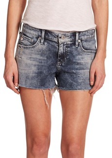 AG Adriano Goldschmied Bonnie Acid-Wash Cut-Off Denim Shorts
