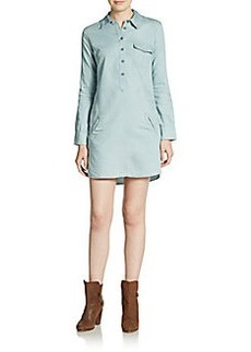 AG Adriano Goldschmied Chambray Mini Shirtdress