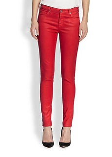 AG Adriano Goldschmied Coated Skinny Jeans