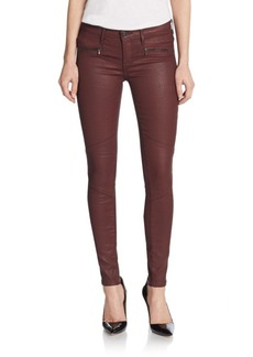 AG Adriano Goldschmied Coated Skinny Zip-Cuff Jeans