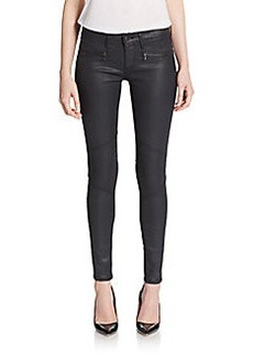 AG Adriano Goldschmied Coated Zip Skinny Jeans