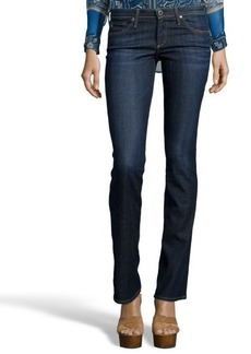 AG Adriano Goldschmied crest blue denim slit bootcut 'The Olivia' jeans