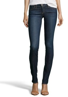 AG Adriano Goldschmied crest blue wash 'The Aubrey - Skinny Straight' jeans