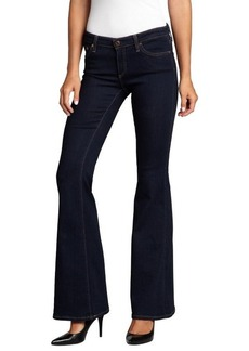 AG Adriano Goldschmied dark blue stretch denim 'Belle' flare jeans