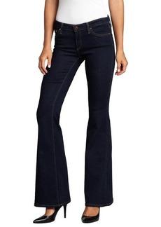 AG Adriano Goldschmied dark blue stretch denim 'Belle' flare jeans