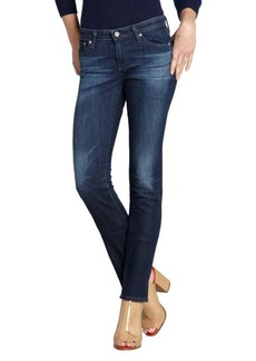 AG Adriano Goldschmied dark blue stretch denim 'Premiere' skinny straight leg jeans