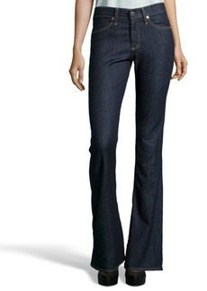 AG Adriano Goldschmied dark blue stretch denim 'The Farrah' flare jeans