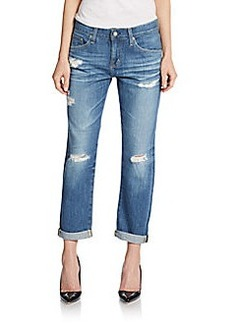 AG Adriano Goldschmied Day Distressed Boyfriend Jeans