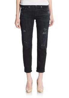 AG Adriano Goldschmied Distressed Slim-Fit Jeans