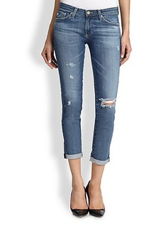AG Adriano Goldschmied Distressed Stilt Roll-Up Cigarette Jeans