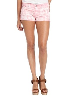 AG Adriano Goldschmied dusty pink tie-dye cotton blend 'Daisy' shorts