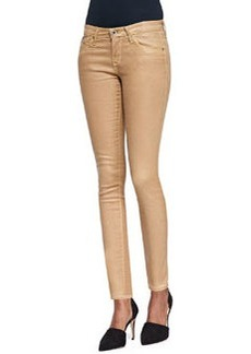 AG Adriano Goldschmied Faux-Leather Skinny-Leg Jeans