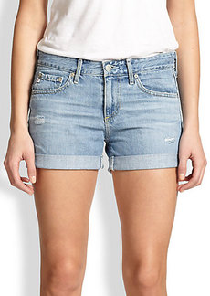 AG Adriano Goldschmied Fire Rolled-Cuff Denim Shorts