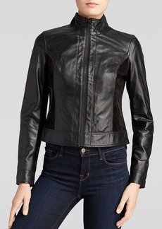 AG Adriano Goldschmied Jacket - Carlie Leather and Suede