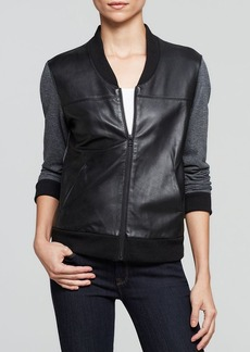 AG Adriano Goldschmied Jacket - Channel Leather Bomber