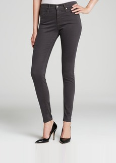 AG Adriano Goldschmied Jeans - Bloomingdale's Exclusive Luscious Sateen Farrah High Rise Skinny in Dark Charcoal
