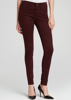 AG Adriano Goldschmied Jeans - Bloomingdale's Exclusive Luscious Sateen Farrah High Rise Skinny in Wine