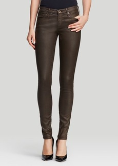 AG Adriano Goldschmied Jeans - Coated Legging in Luster Pine Cone