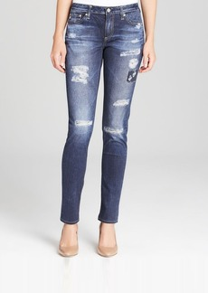 AG Adriano Goldschmied Jeans - Digital Luxe Print Destructed Legging in Webber