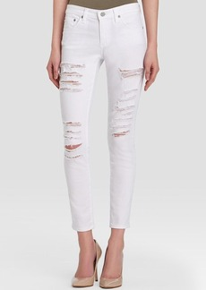 AG Adriano Goldschmied Jeans - Legging Ankle in One Year Shredded White