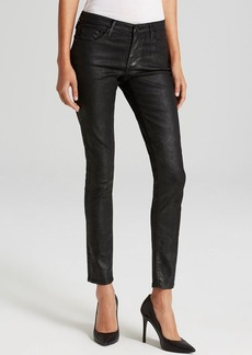 AG Adriano Goldschmied Jeans - Luscious Sateen Leatherette Legging Ankle in Black