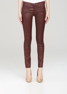 AG Adriano Goldschmied Jeans - Luscious Sateen Leatherette Legging Ankle in Crimson Maple