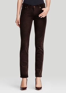 AG Adriano Goldschmied Jeans - Prima Corduroy in Coffee Bean Brown