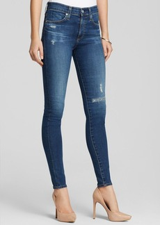 AG Adriano Goldschmied Jeans - The Farrah High Rise Skinny in 12 Years Rip