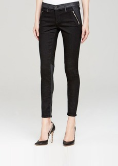 AG Adriano Goldschmied Jeans - Willow Zip Skinny in Black