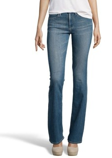 AG Adriano Goldschmied medium blue stretch denim 70's bell bottom 'Farrah' jeans