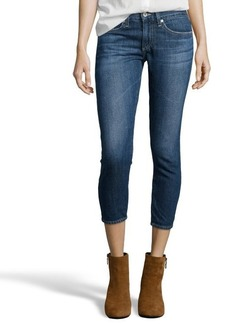 AG Adriano Goldschmied Medium Blue Wash 'The Piper' Crop Jeans