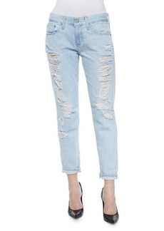 AG Adriano Goldschmied Nikki Cropped Ankle Jeans, 28 Years Shredded
