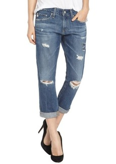 AG Adriano Goldschmied piper blue slouchy slim crop boyfriend jeans