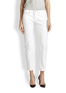 AG Adriano Goldschmied Piper Cropped Straight-Leg Jeans