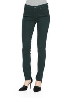 AG Adriano Goldschmied Prima Sateen Mid-Rise Jeans, Rainforest Green