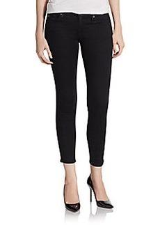 AG Adriano Goldschmied Remi Studded Tuxedo Skinny Jeans