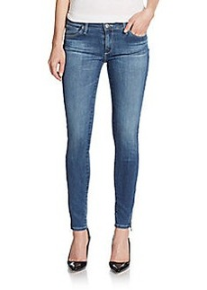 AG Adriano Goldschmied Rev Skinny Zip-Cuff Jeans