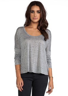 AG Adriano Goldschmied Scoop Tee in Gray